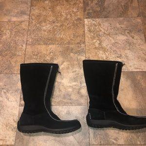 Lands end black boots euc size 9